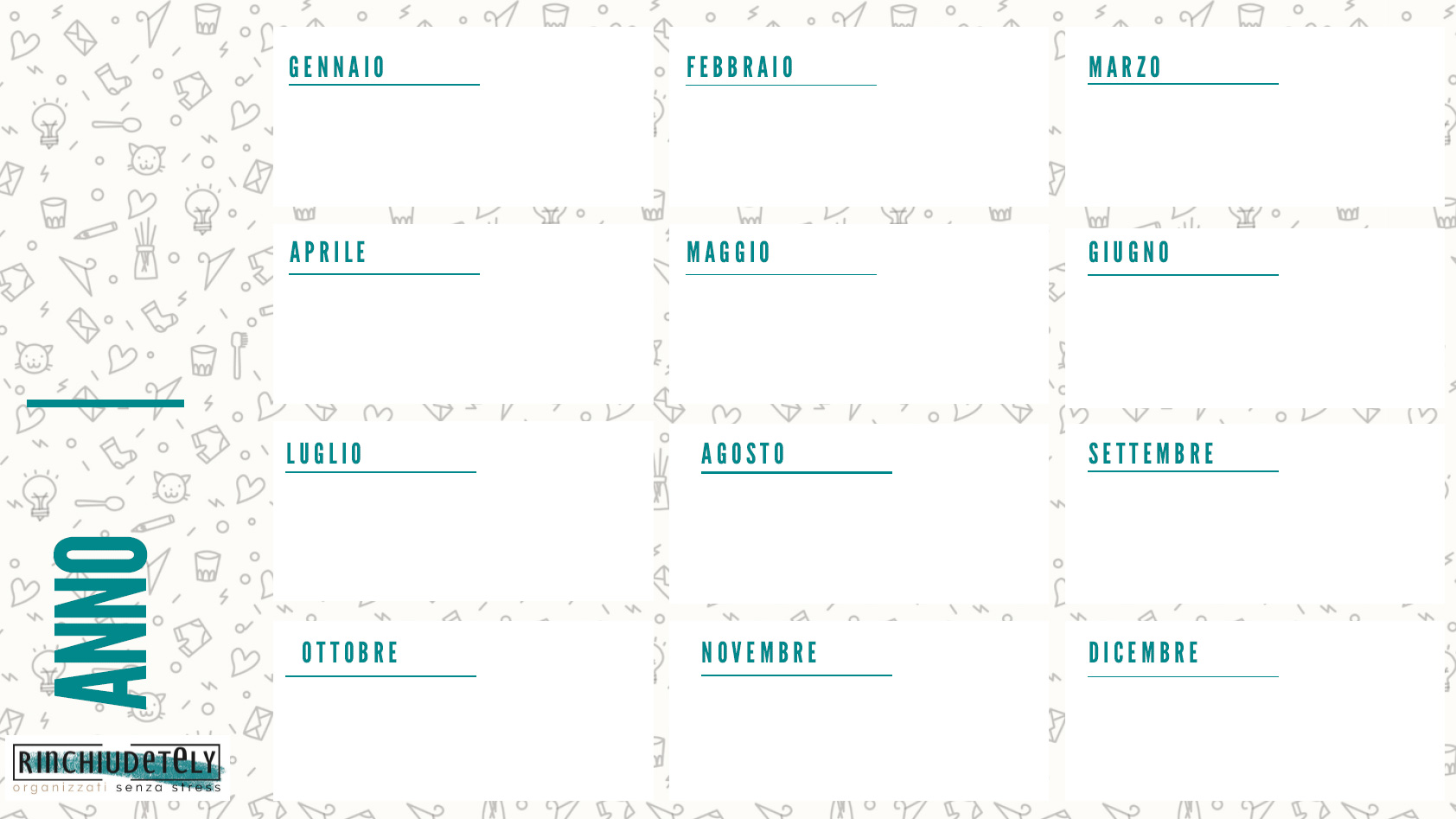 Planner annuale Rinchiudetely